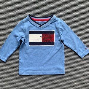 Tommy Hilfiger Long Sleeve Logo T Shirt 12M NWOT